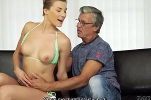 DADDY4K. Dude is astonished to catch his GIRLFRIEND and dad having sloppy sex